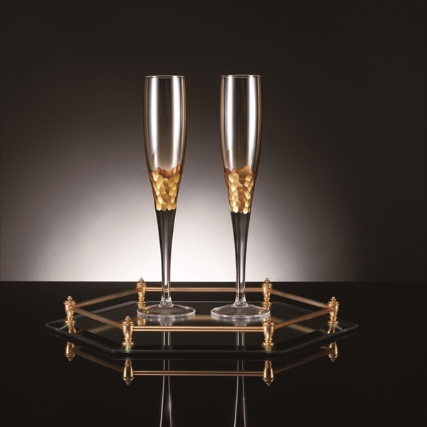 Gold Champagne Flute ペア